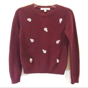 Brooks Brothers Fleece Knitted Girl Floral Sweater